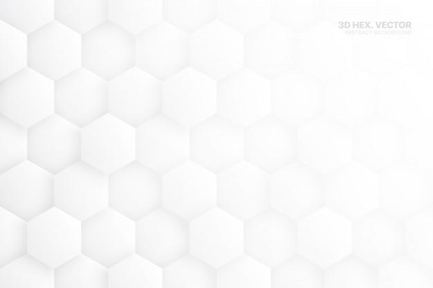 Hexe 3d blockiert weißen abstrakten hintergrund