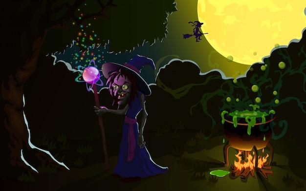 Hexe an halloween