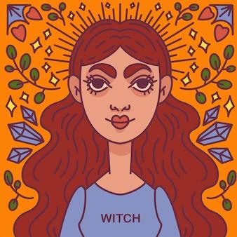 Hexe, hexerei, magische zeichen