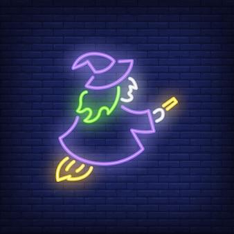 Hexe leuchtreklame