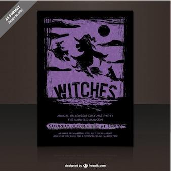 Hexen party flyer vorlage