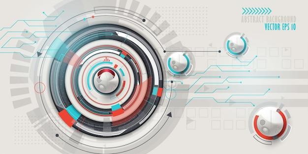 Hi-tech-digitaltechnik hintergrund