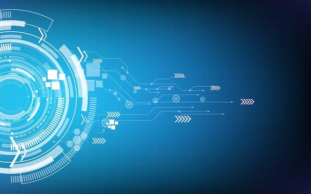Hi-tech-konzept der abstrakten technologie-hintergrundschnittstellenkommunikation
