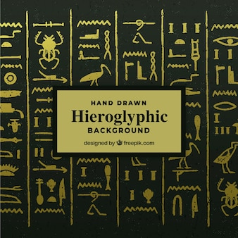 Hieroglyphischer hintergrund