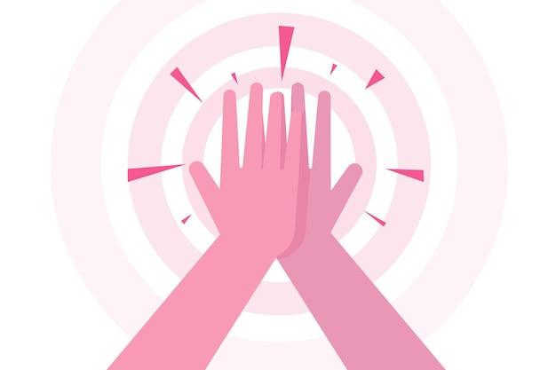 High five hands tolles konzept für eine arbeitsleistung