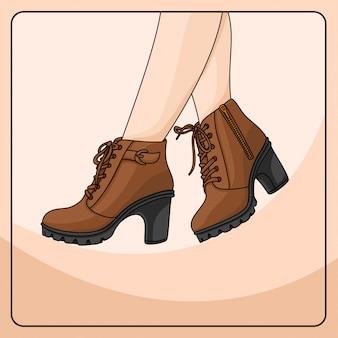 High heels leicht editierbar