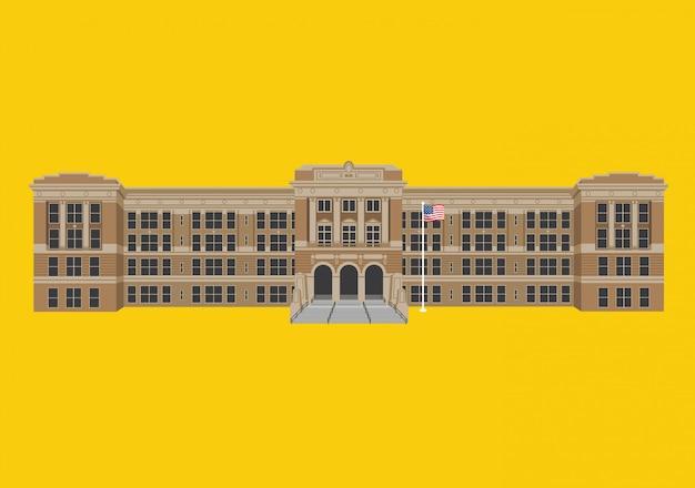 High school gebäude