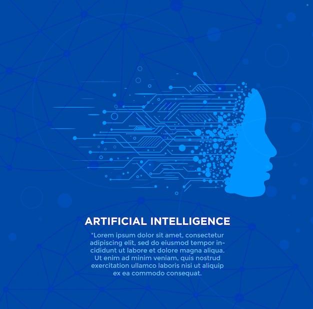 High-tech-hintergrund der künstlichen intelligenz