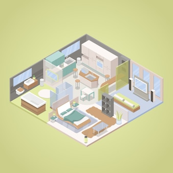 High tech modern apartment innenarchitektur