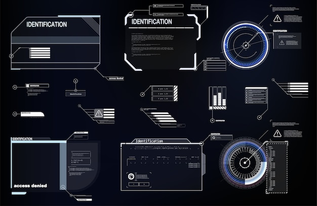 Hightech-bildschirm für videospiele. sci-fi-konzept.