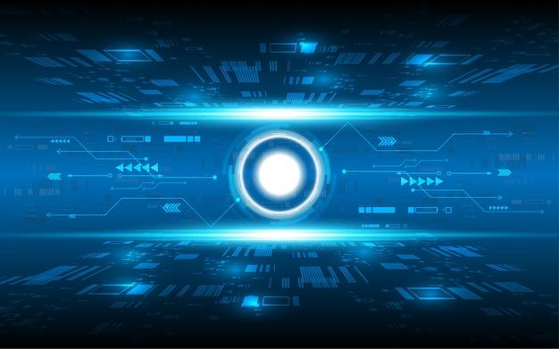 Hightech-kommunikationskonzeptinnovations-vektorillustration des abstrakten technologiehintergrundes