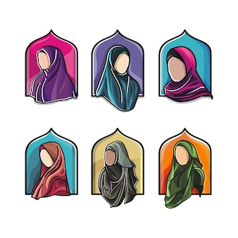 Hijab mode muslimisches set