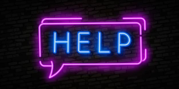 Hilfe leuchtreklame