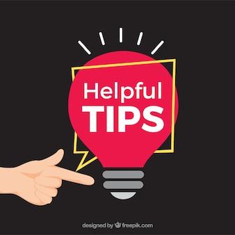 Hilfreiche tipps konzept mit flachen desing