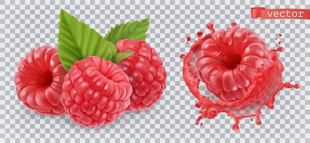 Himbeere. süße frucht.