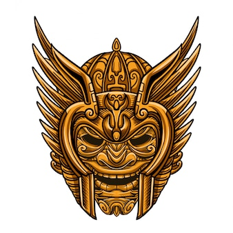Himmel goldene krieger maske