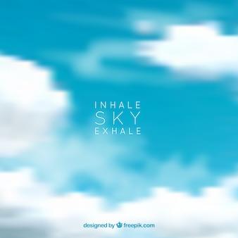 Himmel hintergrund einatmen ausatmen