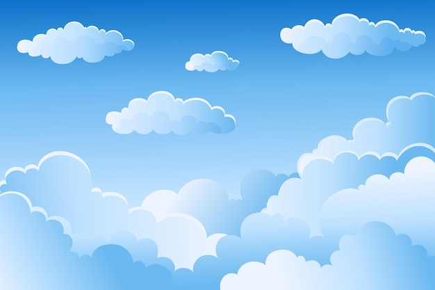 Himmel hintergrund für videokonferenzen
