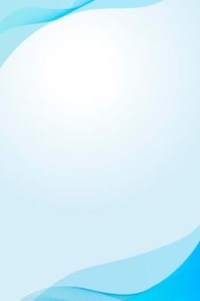 Himmelblauer blauer kurvenrahmenschablonenvektor