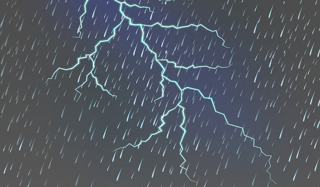 Himmelhintergrund mit regen und donner