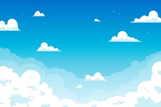 Himmelshintergrund für videokonferenzdesign