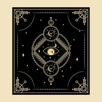 Himmlische magische tarotkarten esoterisch okkulter spiritueller leser hexerei auge gottes drittes auge