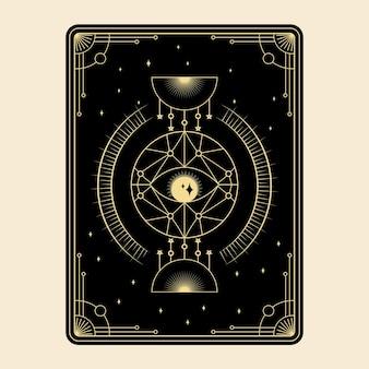 Himmlische magische tarotkarten setzen esoterische okkulte spirituelle leser hexerei magisches auge gottes