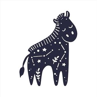 Himmlische tiere babypferd mystisches tier himmlisches pferd sternzeichen