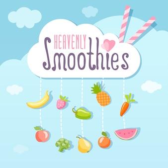 Himmlisches smoothie-logo-konzept.