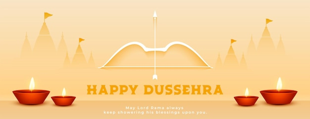 Hindu-festival fröhliches dussehra-feierbanner