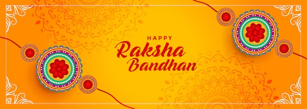 Hindu-festival von raksha bandhan banner design