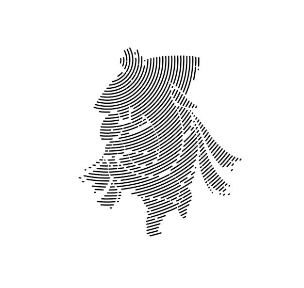 Hindu-gott ganesha - elefant. strichzeichnungen gezeichnete illustration. Premium Vektoren