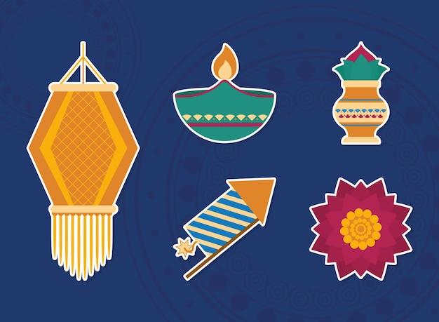 Hinduistisches diwali-fest