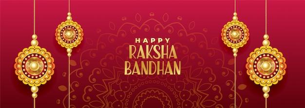 Hinduistisches festival der rakshabandhan-fahne