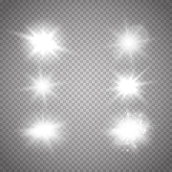 Hine glühende sterne. vektor leuchtet