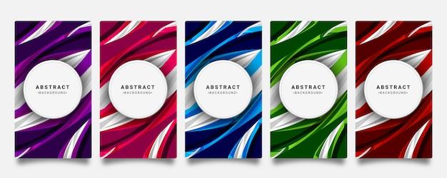 Hintergründe mit abstrakten gewellten einfarbigen formen