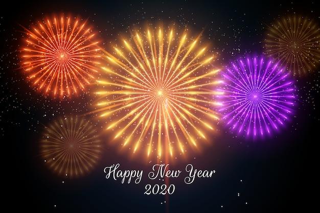 Hintergrund 2020 des neuen jahres der feuerwerke
