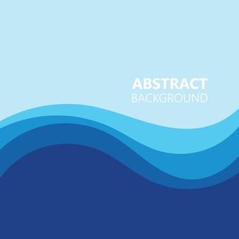 Hintergrund abstrakte farbwellenvektorillustration background
