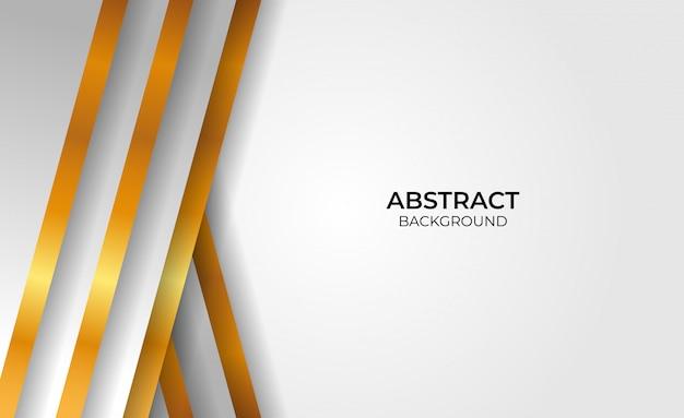 Hintergrund abstrakter geometrischer gold- und graustil