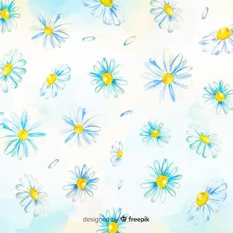 Hintergrund-aquarellart der gänseblümchen dekorative