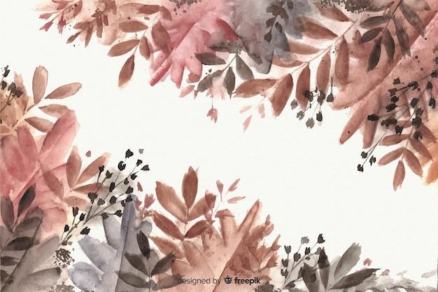Hintergrund-aquarellart des herbstes dekorative