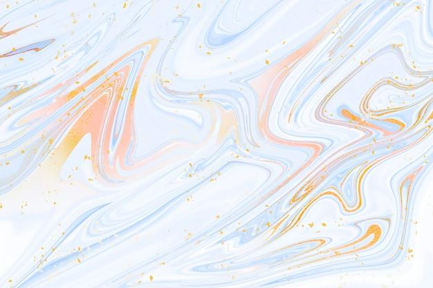 Hintergrund aus flüssigem marmor mit goldener glanzstruktur