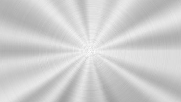Hintergrund aus gebürstetem aluminiumstahl, eisenmetalllegierung mit radialer textur