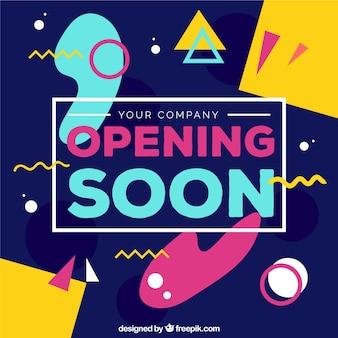 Hintergrund bald öffnen mit typografie