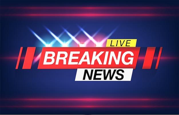 Hintergrund-bildschirmschoner auf aktuelle nachrichten. breaking news live auf weltkartenhintergrund.