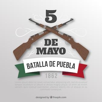 Hintergrund cinco des mayo mit gewehren