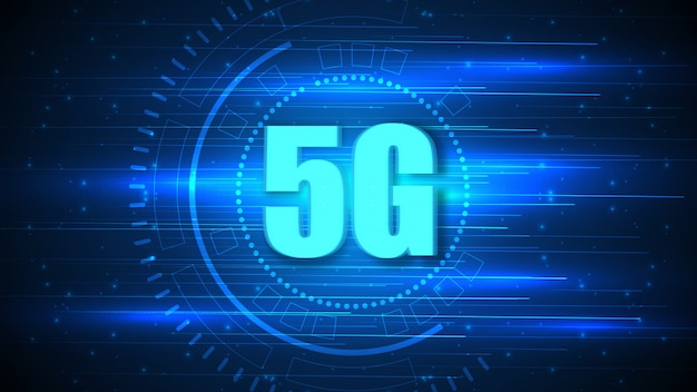 Hintergrund der 5g-geschwindigkeitsschaltungstechnologie