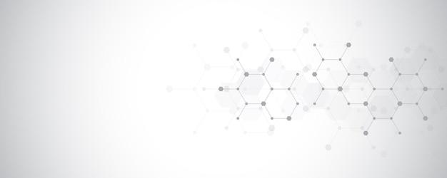 Hintergrund der abstrakten moleküle