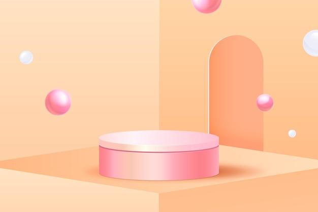 Hintergrund der abstrakten szene 3d