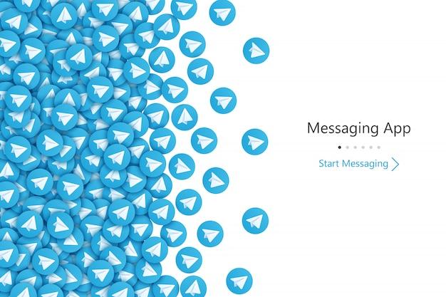 Hintergrund der benutzeroberfläche des telegramm-startbildschirms